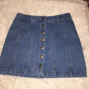 3 for $15 Jean button up mini skirt